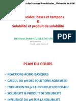 pH et solubilité