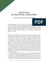 Argentina de Kirchner a Kirchner Steven Levitsky m v Murillo