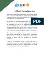 Bali Global Youth Forum Declaration