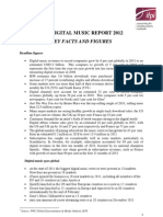 Digital Music Report 2012 Keyfacts - Figures