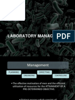 Laboratory Management LECTURE