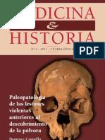 Paleopatología de las lesiones violentas antes del descubrimiento de la pólvora.
