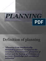 Planning, Management
