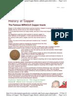 using copper in rheumatoid arthrits