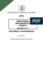 5535115 Addition Mathematic Form 5 Progression Module 1