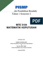 Modul MTE3104 Matematik Keputusan