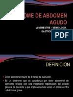 Sindrome de Abdomen Agudo