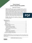 Anderson, Sweet Science, Proposal for Integral Macropolitics, Vol. 6 No. 1