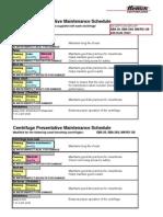 Centrifuges Preventative Maintenance Schedule