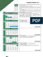 Calendário Acadêmico 2013