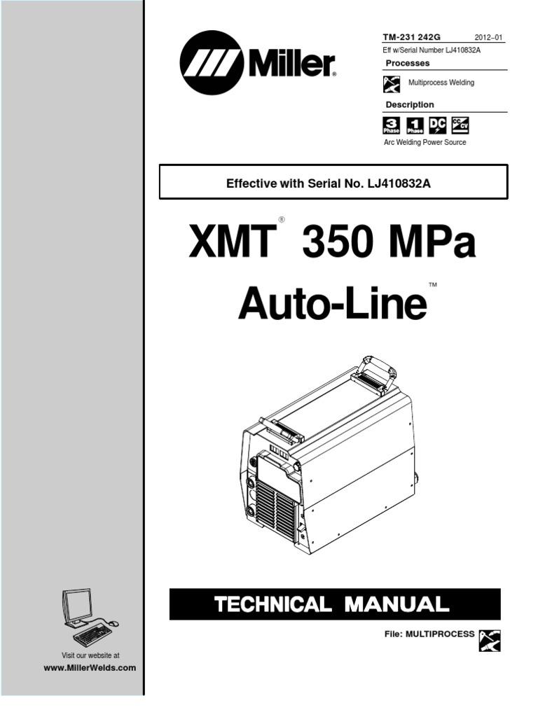 xmt350mpaauto line lj410832a fuse electrical welding rh scribd com