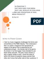 Media Question 1 (Analysis of Magazine)