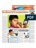 No abuse de la computadora. Síndrome visual informático