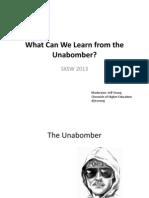 SXSW2013 Presentation - Unabomber debate slides