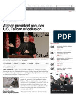 Afghan President Accuses the US Government of False Flag Activity sun march 10th 2013