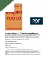F. T. Marinetti - Il tamburo di fuoco