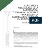 Conceptos y Aplicaciones de La Investigacion Formativa