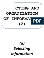 Selecting and Organization of Information 2