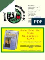Der Grosse Gesundheits-Konz_ UrMedizin H - Franz Konz