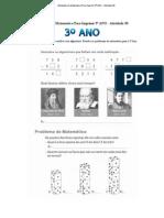 Atividades de Matematica Para Imprimir 3º ANO - Atividade 30