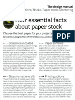 4 Essential Paper Stock Facts