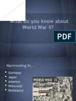 Voices of WWII Introduction Powerpoint