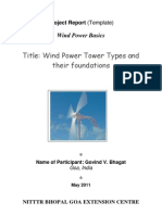 Wind Power Tower and Foundation by Bhagat