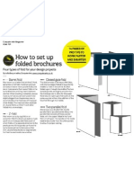 How to set up folded brochures