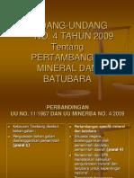 Perbedaan UU No 11 Th 67 dg No 4 th 09.ppt