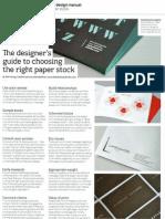 Choosing Paper Stock