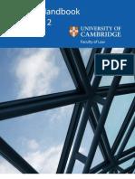 University of Cambridge Law Faculty Handbook 2011/12
