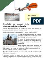 Seputada na manhã deste domingo a primeira prefeita da Paraíba