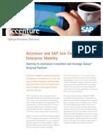 Accenture SAP Join Forces Enrich Enterprise Mobility