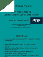 ECRN Mod II 2010 Penetrating Trauma