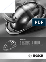 Bosch BSG71266 Vacuum Cleaner Manual