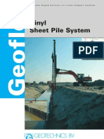 Geoflex Vinyl Sheet Pile System Brochure (Geotechnics BV, 2005)