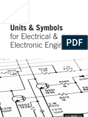 Units and Symbols for Electrical Engineers | Kilogram ... on