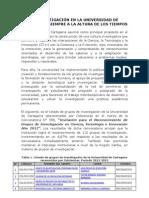Grupo s de Investigacion Uni Cartagena 2013