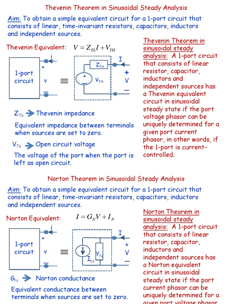 Thevenin And Norton Theorems Electrical Impedance Network Find The Thvenin Equivalent Circuit With Respect To Capacitor