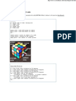 Algorithms to Solve Rubik's Cube