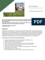 Audit Graduate Recruitment 2013