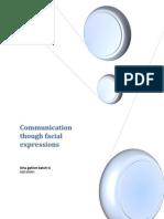 communication via facial expressions