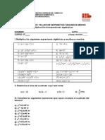 GUÍA DE ESTUDIO multiplicación de expresiones algebriacas