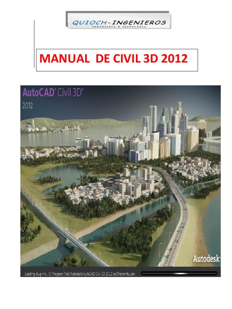 manual civil 3d curos quioch rh es scribd com manual civil 3d 2012 pdf manual autocad civil 3d 2012 pdf