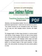 Teaching Sentence Patterns