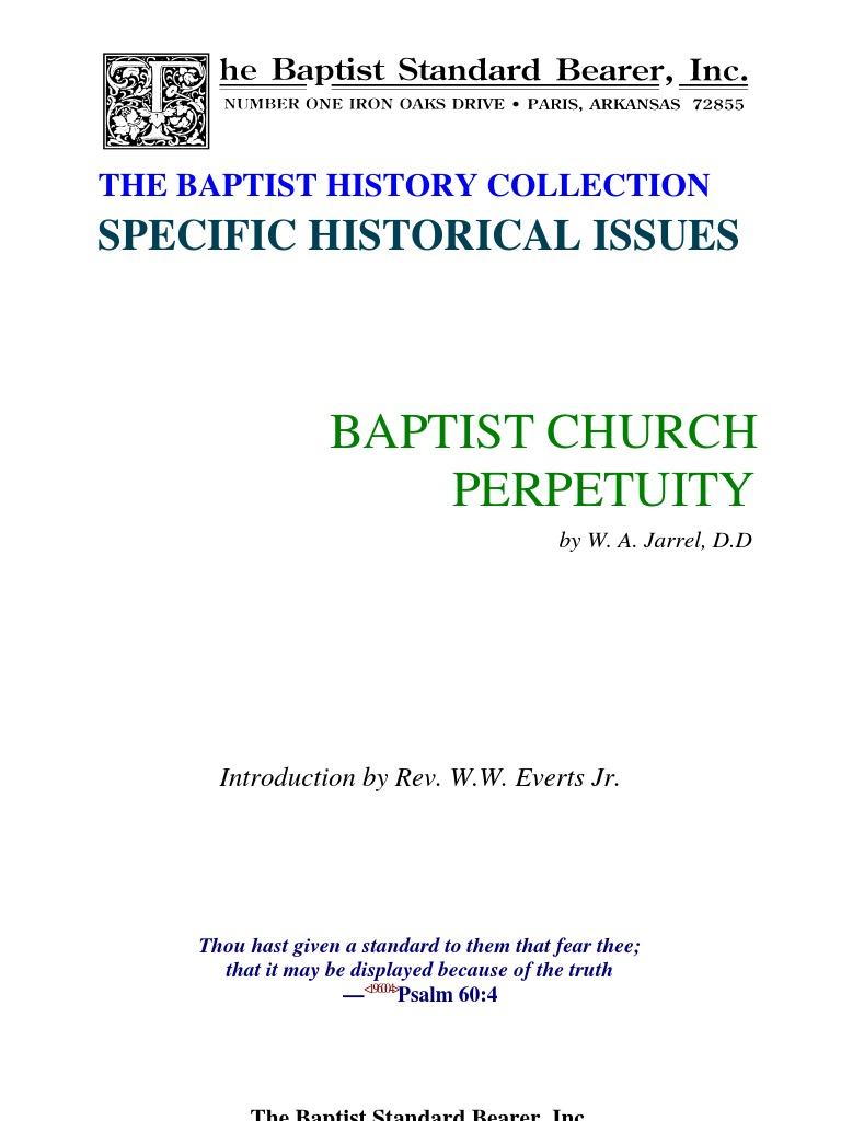 Baptist Church Perpetuity | Baptists | Baptism