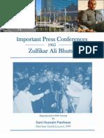 Important Press Conferences