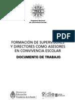 Formación de supervisores y directores como asesores en convivencia escolar-Documento de trabajo