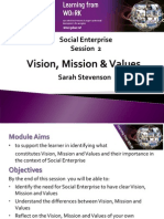 Social Enterprise Vision, Mission and Values (1)