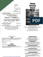 February 17, 2013 Church Bulletin